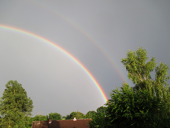 Regenbogenkuppel über Forstmehren