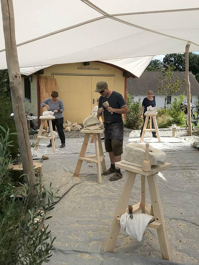 Corinna Franz - Bildhauerin, Bildhauerkurs 2021